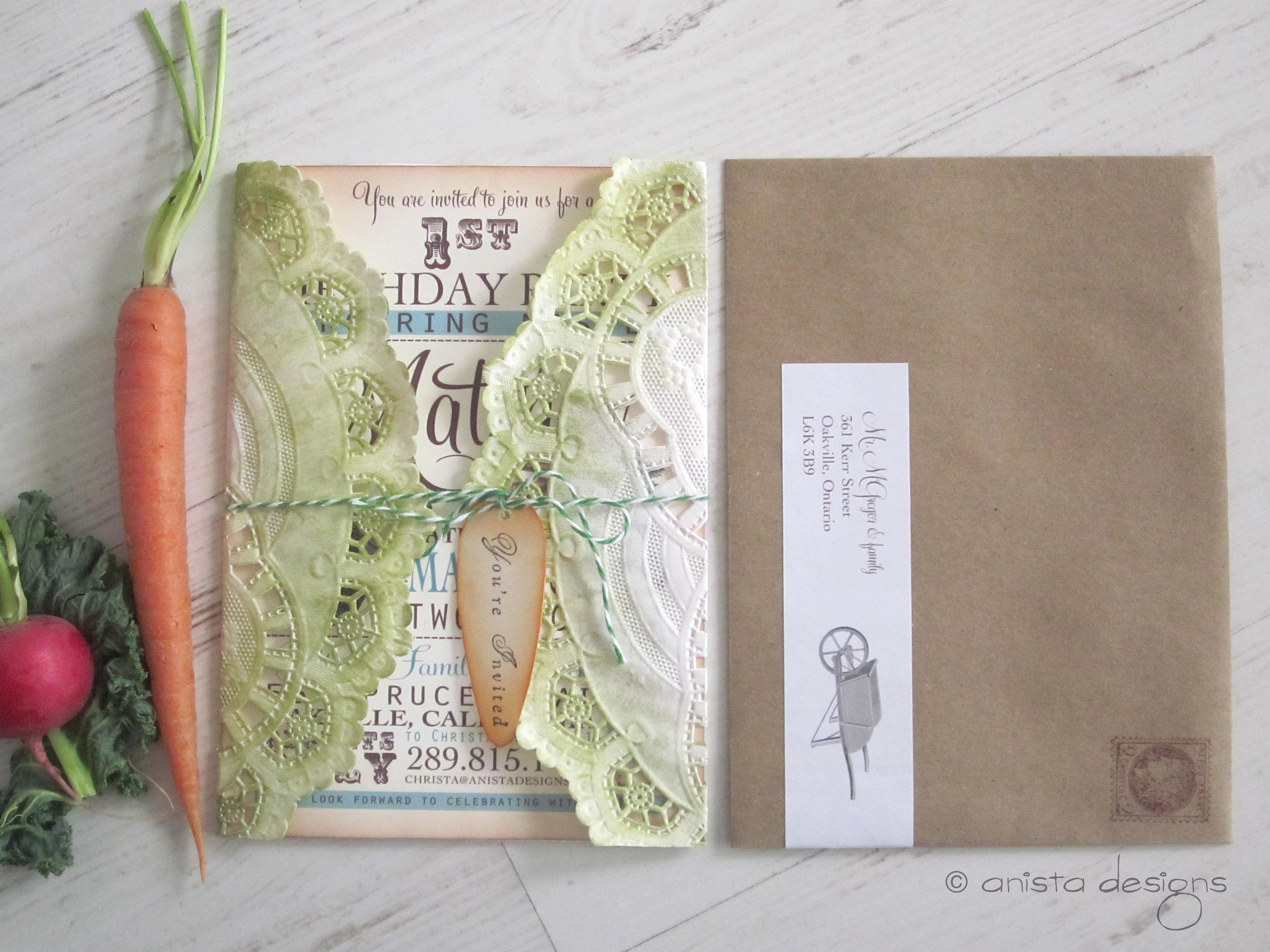 Peter Rabbit Lettuce Graphic Invitaiton